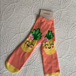 Brand New - Pineapple socks for girls.